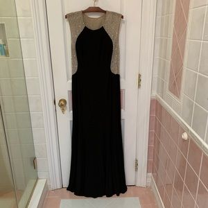 Xscape embellished beaded illusion gown size 14